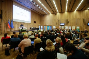 Brdo pri Kranju, Kongresni center Brdo. Odprtje nacionalnega foruma o globalnem ucenju ter vzgoji in izobrazevanju za trajnostni razvoj.